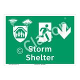 Storm Shelter Sign (F1304-)