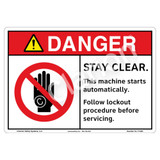 Danger/Stay Clear Sign (F1326-)