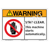 Warning/Stay Clear Sign (F1327-)