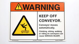 Warning Keep Off Conveyor Sign (F1329-)