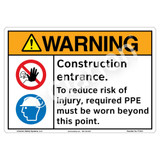 Warning/Construction Entrance Sign (F1331-)