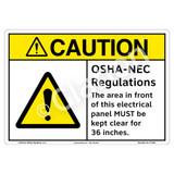 Caution/OSHA - NEC Sign (F1332-)