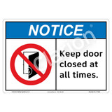 Notice/Keep Door Closed Sign (F1334-)