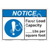 Notice/Floor Load Capacity Sign (F1335-)
