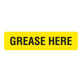 Grease Here Label (Grease-)