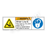 Warning/Shear Hazard Label (H1001/6011-7EWH)