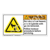 Warning/Rotating Blade Label (H1007-85WH)