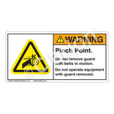 Warning/Pinch Point Label (H1009-T27WH)