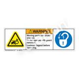 Warning/Moving Parts Label (H1012/6011-M4WH)