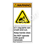 Warning/Moving Parts Label (H1012-04WV)