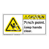 Caution/Pinch Point Label (H1017-HBCH)
