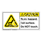 Caution/Burn Hazard Label (H1024-01CH)