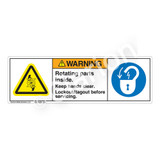 Warning/Rotating Parts Label (H1028/6011-4GWH)