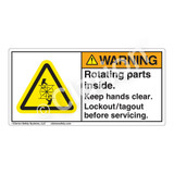 Warning/Rotating Parts Label (H1028-4GWH)