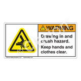 Warning/Drawing In and Crush Label (H1043-8NWH)