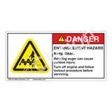 Danger/Entanglement Hazard Label (H1050-M25DH)