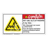 Danger/Entanglement Hazard Label (H1050-M25DH)