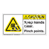 Caution/Keep Hands Clear Label (H1054-GWCHP-)
