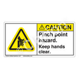 Caution/Pinch Point Label (H1073-G3CH)