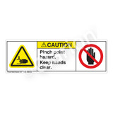Caution/Pinch Point Label (H1105/6008-G3CH)