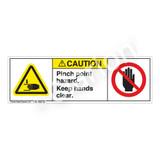 Caution/Pinch Point Label (H1105/6008-G3CH)