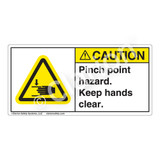 Caution/Pinch Point Hazard Label (H1105-G3CH)