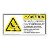 Caution/High Speed Robots Label (H1117-3GCH)