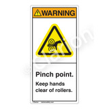 Warning/Pinch Point Label (H1153-PXWV)