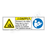 Caution/Pressurized Device Label (H4005/6127-4BCH)