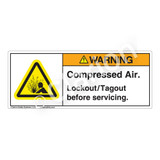 Warning/Compressed Air Label (H4005-524WH)