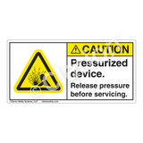 Caution/Pressurized Devices Label (H4005-B61CH)