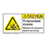 Caution/Pressurized Device Label (H4005-NBCH)