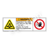Warning/Hazardous Materials Label (H4006/6062-Y6WH)
