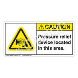 Caution/Pressure Relief Device Label (H4019-DBCH)