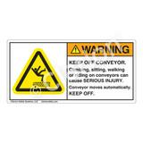 Warning/Keep Off Conveyor Label (H5016-H77WH)