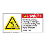 Danger/Climbing Sitting Label (H5016-V9DH)