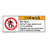 Warning/No Step Label (H5080-C07WH)