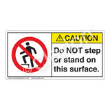 Caution/Do Not Step Label (H5080-CYCH)