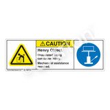 Caution/Heavy Object Label (H5101/6148-V17CH)