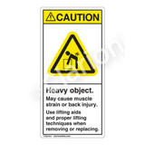 Caution/Heavy Object Label (H5101-A36CV)