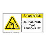 Caution/45 Pounds Label (H5101-K05CH)