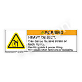 Warning/Heavy Object Label (H5101-XFWH)