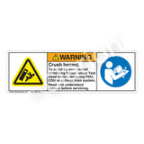 Warning/Crush Hazard Label (H5130/6127-G79WH)