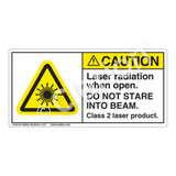 Caution/Laser Radiation Label (H6003-113CH)