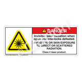 Danger/Invisible Laser Label (H6003-135DH)
