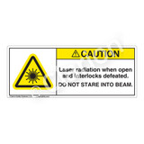Caution/Laser Radiation Label (H6003-139CH)