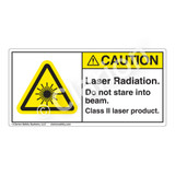 Caution/Laser Radiation Label (H6003-FMCH)