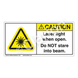 Caution/Laser Light Label (H6003-KXCH)