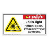 Danger/Laser Light Label (H6003-MBDHP-)