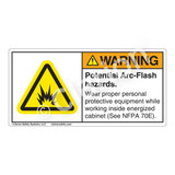 Warning/Potential Arc Flash Label (H6006-718WH)